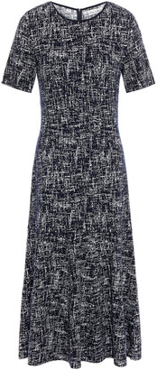 Oscar de la Renta Jacquard-knit Midi Dress