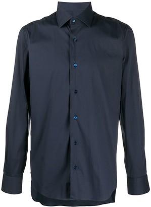 Barba Button-Cuff Poplin Shirt