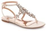 Badgley Mischka Women's 'Cara' Crystal Embellished Flat Sandal