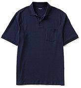 Roundtree & Yorke Silky Finish Short Sleeve Solid Polo Shirt with Pocket