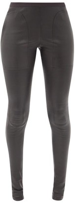 Rick Owens Panelled Stretch-leather Leggings - Black
