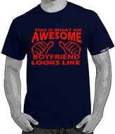 StarliteFunnyTShirts Starlite~Mens Funny tshirts-Awesome Boyfriend Looks Like tshirt-L
