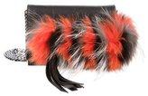 Elena Ghisellini Mini Nina Fur-Trimmed Crossbody Bag