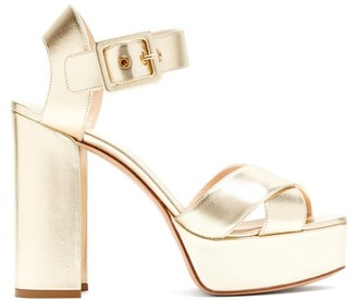 Nicholas Kirkwood Essential Metallic Leather Platform Sandals - Womens - Gold