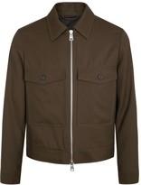 Ami Brown Wool Twill Jacket