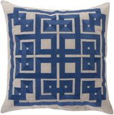"Surya Beth Lacefield Intersected Geometrics Polyester Pillow, Navy, 22"" x 22"""