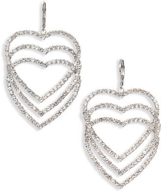 CRISTABELLE Crystal Open Heart Drop Earrings