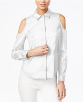 Bar III Cold-Shoulder Shirt, Only at Macy's