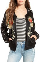 Blank NYC Women's Blanknyc Embroidered Bomber Jacket