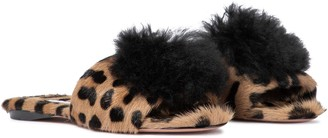 Aquazzura Foxy leopard-print sandals