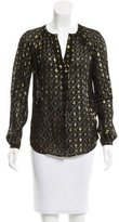 Diane von Furstenberg Metallic Sheer Top w/ Tags