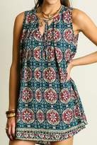 Umgee USA Plus Printed Sleeveless Dress