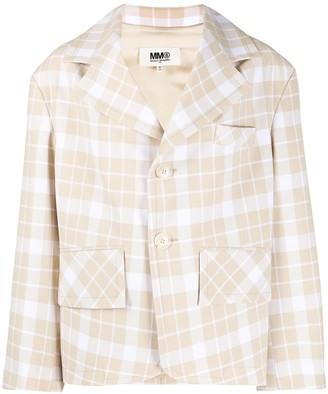 MM6 MAISON MARGIELA Oversized Check-Print Jacket