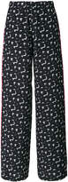 Marni wide leg floral trousers