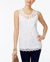 INC International Concepts Cotton Lace Tank Top, Only at Macy's