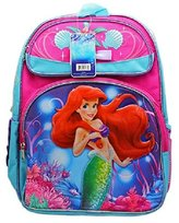 Disney Disney's The Little Mermaid and Blue Colored Size Backpack (16in)