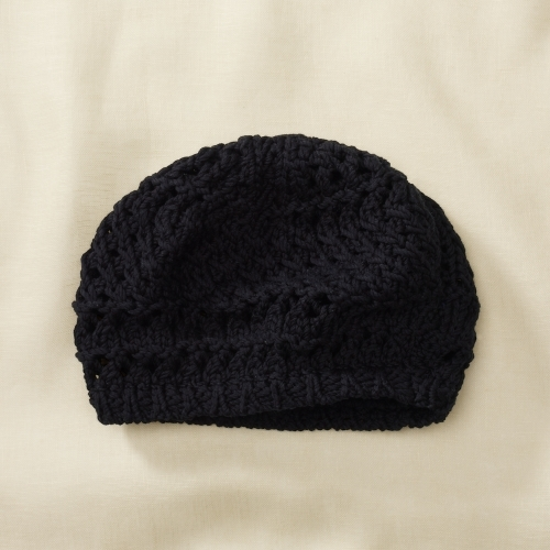 Rugby Cotton Crocheted Beret