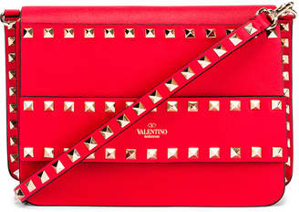 Valentino Rockstud Crossbody Camera Bag in Red | FWRD