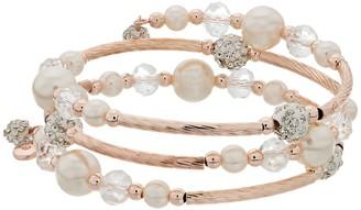 Gold-Tone Bead Coil Bracelet