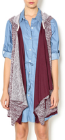 Hazel Plum Lace Vest
