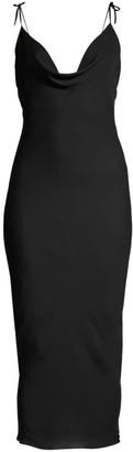 Kiki de Montparnasse Tie Strap Midi Slip Dress
