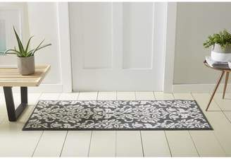 "Nicole Miller Rosewood Ravinder Dark Gray Area Rug Rug Size: Rectangle 2' x 4'11"""
