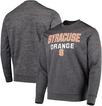 Colosseum Men's Heathered Charcoal Syracuse Orange Performance Pullover Sweatshirt