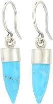 Chan Luu Sterling Silver Drop Earrings with Lapis Semi Precious Stone Bullet