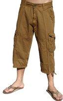 Stone Touch Mens Cargo Capri Shorts #A7CA