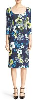 Erdem Women's Tess Floral Print Jersey Dress