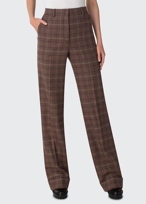 Akris Flore Prince of Wales Plaid Print Cashmere Pants