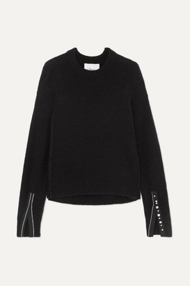 3.1 Phillip Lim Embellished Knitted Sweater - Black
