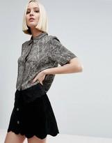 Vero Moda Top With Lace Trim