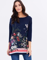 Wallis Floral Double Layer Top