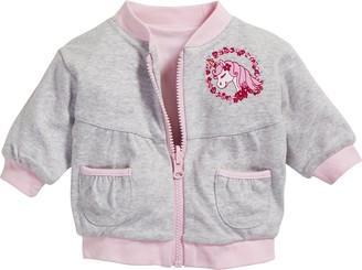 Schnizler Baby Girl's Unicorn Interlock Reversible Jacket