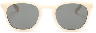 Saint Laurent D-frame Acetate Sunglasses - Grey