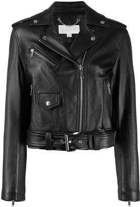 MICHAEL Michael Kors Zip-Up Biker Jacket