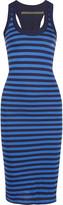 Enza Costa Layered striped Pima cotton-jersey midi dress