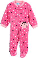 Bon Bebe Pink Polka Dot Lady Bug Footie - Infant