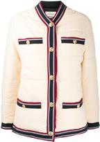 Gucci Web trim padded jacket