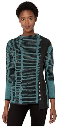 Nic+Zoe Adaptation Toggle Top (Multi) Women's Sweater