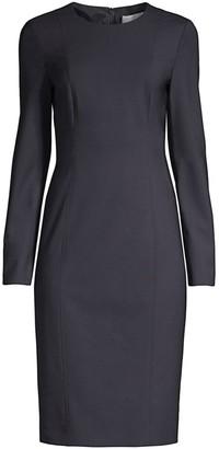 HUGO BOSS Damola Slim-Fit Stretch-Wool Sheath Dress
