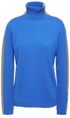 Bella Freud Striped Cashmere-blend Turtleneck Sweater