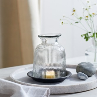 The White Company Mini Domed Cloche with Tray, Clear, One Size
