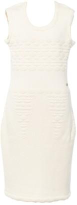 Chanel White Wool Dresses