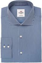 Ben Sherman Men's Slim-Fit Navy Dobby Stripe Dress Shirt