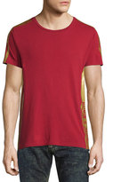 Robin's Jeans Gold-Striped Short-Sleeve T-Shirt, Red