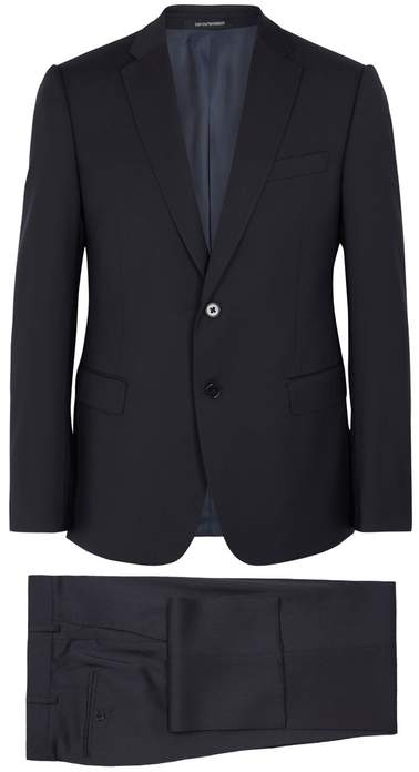 Emporio Armani M-line Midnight Blue Wool Suit