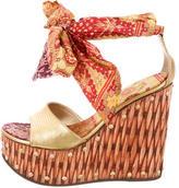 Giuseppe Zanotti Printed Wedge Sandals