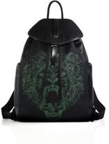 Alexander McQueen Lion Print Backpack
